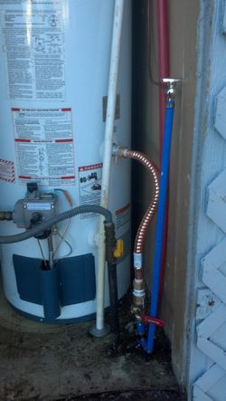 Water Heater Repiping - After